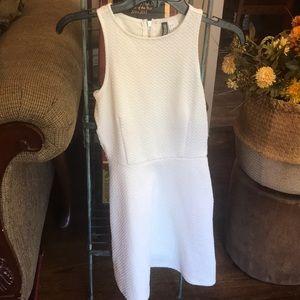 All white mini H&M dress